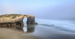 Praia das catedrais (Ch3micals) Tags: landscape reflejos niebla mar cantabrico galicia seascape light