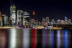 sydney city west (Greg Rohan) Tags: photography ocean water nightlights lights 2016 d7200 nightphotography skyline sydney cityscape sydneycity