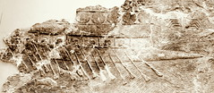 Ancient Assyrian Galley (austexican718) Tags: assyrian stonecarving ancient ship galley slave oar fish basrelief