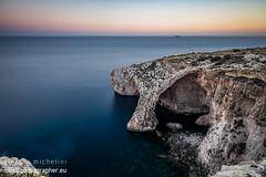 Blue Grotto, Malta (darkmavis) Tags: horizon bluegrotto landscape sunset tralve cliffs mediterranean seascape trip malta sea ilqrendi mt