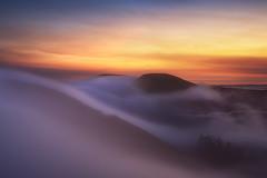 Into the Fog (michaelhindman.com) Tags: california fog sunrise sanfrancisco marinheadlands thebay mountains smoke