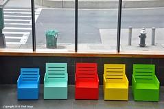 Color In A Gray World (Trish Mayo) Tags: chairs museums bronxmuseumofart urbanlandscape street bronx gnneniyisi thebestofday
