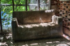 Shady Lounger (Linda O'Donnell) Tags: pennhurstasylum coolabandonedplacesinamerica desertedplaces abandonedamerica leftbehind ue uer historian stories art exploreusa urbex urbanexploring moderndayexplorers undercity rurex rural ninja infiltration guerilla artisticphotography debris decaying rust patina weathered rustic nostalgia bokeh effect photography background shallowdepthoffield dof nikond750 hdr highdynamicrange images bracketing camera pov differentpointofview abandonedplacesinpennsylvania lindanjo6 lindaodonnell couch