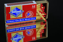 Box of Matches (Hylas) Tags: matches red double reflection canon7dmarkii canon60mmmacro mirror