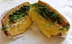 egg salad sandwich from Lee's Deli in San Francisco (Fuzzy Traveler) Tags: sanfrancisco tomato bread restaurant sandwich lettuce eggs eggsalad leesdeli