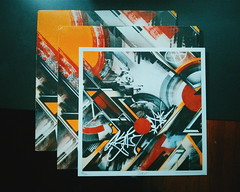 """Brainstorm"" by The RAMM:ELL:ZEE b/w ""Brainstorm [Divine Styler Remix]"" (minusbaby) Tags: vinyl lp limitededition 12inch artprint rammellzee signedprint 12inchrecord iankualii gammaproforma robswain therammellzee"