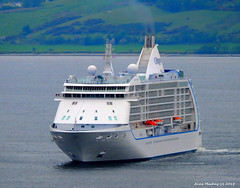 Scotland Greenock cruise ship Seven Seas Voyager arriving in port 13 June 2015 by Anne MacKay (Anne MacKay images of interest & wonder) Tags: cruise june by river anne scotland clyde greenock ship picture seven voyager mackay 13 seas 2015 xs1