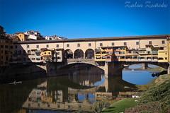 Ponte Vecchio (Zaloa Zueda Photo) Tags: landscape arquitectura italia paisaje ponte reflejo florencia firenze urbano vecchio