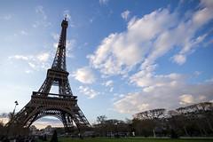 Champ de Mars (amoeboid) Tags: park paris france tower clouds eiffeltower eiffel canon1022mm canon60d