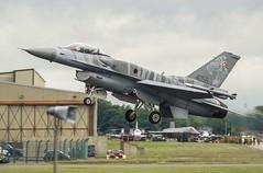 F16C Polish Airforce (tobyjm) Tags: light tattoo clouds nikon fighter gloomy aircraft air poor jet royal polish f16 international airforce riat 2016 300mmf4 tc14e 4056 d700