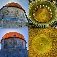 The Dome of the rock from the inside and out. (TeamPalestina) Tags: heritage beautiful architecture sunrise hope amazing photographer sweet palestine jerusalem domeoftherock blockade ramadan freepalestine alaqsa palestinian occupation goldendome  oldcityjerusalem landscapecaptures