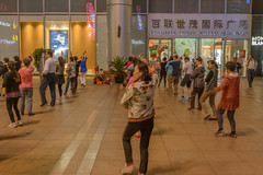 Shanghai streets 18 (stevefge) Tags: china shanghai people street women dance evening exercise candid