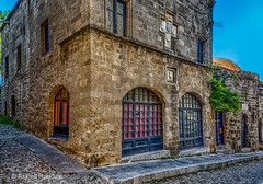 Residence of the Prior, chapel of France (Askjell's Photo) Tags: hellas medieval greece oldtown rodos rhodes rhodos middleage streetoftheknights knightsofstjohn egeo knightshospitaller ippoton rhodosoldtown askjell