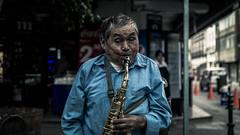 Sax Man (ivnpourtous) Tags: portrait portraiture portraits retrato retratos puebla saxofon sax nikon