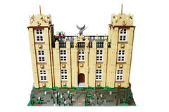Wayne Manor 01 (Ptra) Tags: lego moc waynemanor batman batcave robin alfred manor mansion house statues hall minifigs
