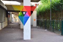 Anamorphose (HBA_JIJO) Tags: street urban streetart france art wall painting graffiti triangle view spray peinture rue mur geometrie vitry anamorphose vitrysurseine paris94 hbajijo gremone grem1
