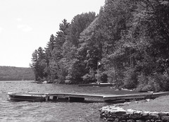 Cottage Docks_ (Bill Smith1) Tags: billsmithsphotography canonf1n dorseton fdn50f14lens hc110b ilforddelta100 july2016 lakeofbays muskoka filmshooterscollective