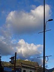 No. 1157 - 8 de julio/16 (s_manrique) Tags: postes bogot cielo nubes montaa monserrate