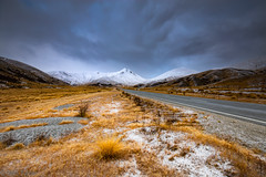 Lindis Pass (Glen Turns) Tags: lindispass otago newzealand nz snow winter stark lan road mount hills