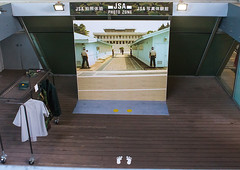 Photo studio at the jsa to pose in front of panmunjeom, Sudogwon, Paju, South korea (Eric Lafforgue) Tags: people tourism horizontal asian soldier army stand photo war uniform asia day authority fake nobody nopeople security souvenir soldiers photostudio concept conceptual southkorea patriotism dmz armedforces northkorea paju concepts jsa dprk militaryuniform panmunjeom northkorean jointsecurityarea 0people northkoreans sudogwon koreandemilitarizedzone colourpicture sk162235