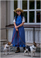 Lady in Blue (Eric@focus) Tags: bavaria lady dress blue boots dogs hat original weird nikond7100 flickrelite