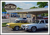 1972 Ford Torino and 1985 Mercury Marquis (sjb4photos) Tags: brownsrootbeer southlyon 1972fordtorin 1985mercurymarquis