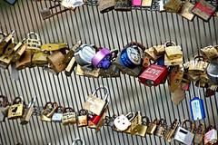 Locks of Love 1 (EmperorNorton47) Tags: museedosay paris iledefrance france photo digital autumn fall padlocks lovetokens foundobjects lovers
