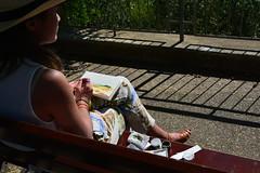 Acquerello a Monticchiello (giannipiras555) Tags: panorama toscana colori disegno artista acquerello pittrice