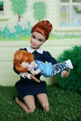 IMG_6960 (irinakopilova) Tags: barbie made move baby kelly tommy nikki little sister small doll red hair summer
