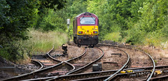 DBC Class 67 no 67022 at Shirebrook on route learning duties. 27-07-2016 (kevaruka) Tags: shirebrook shirebrookstation derbyshire class31 class67 dcr dbc locomotive lightroom yellow green red canon canoneos5dmk3 canon5dmk3 canon70200f28ismk2 5d3 5diii 5dmk3 flickr frontpage thephotographyblog ilobsterit trains train transport trainstation colour colours color colors england