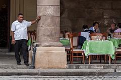 Waiter Waiting (Mitch Ridder Photography) Tags: cuba cuban island caribbean caribbeanisland largestcaribbeanisland communist communistcountry mitchridder mitchridderphotography mitchridderphotographyallrightsreserved2016 workshop photoworkshop cameravoyages travel travelphotography streetphotography havana havanacuba islandofcuba cubascapitol cubancapitol havanarestaurant waiter restaurantwaiter cubanrestaurant oldhavana