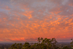 Sunrise clouds - south (NettyA) Tags: 2016 brisbane mtcoottha mtcootthalookout qld queensland sonya7r clouds seqld sunrise pink sky