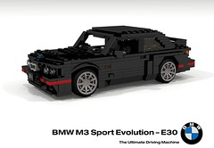 BMW M3 Sport Evolution Coupe (E30 - 1989) (lego911) Tags: bmw e30 m3 3series evolution sport coupe s14 1989 1980s auto car moc model miniland lego lego911 ldd render cad povray german germany racer foitsop