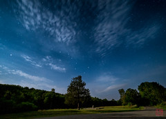 Dipper Over Pisgah Park Monument (Mitymous) Tags: clouds longexposure night dipper bigdipper perseids roki14 stars summer16