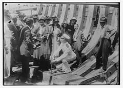 Mrs. J.D. Rockefeller Jr. (LOC) (The Library of Congress) Tags: libraryofcongress dc:identifier=httphdllocgovlocpnpggbain27412 xmlns:dc=httppurlorgdcelements11 fishhawk trawler keellaying shipbuilding abby aldrich rockefeller ywca portland maine portlandshipbuildingcompany