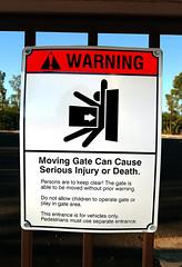 f_killergate (ricksoloway) Tags: signlanguage warningsigns direwarnings tucsonarizona arizonamojo cameraphone
