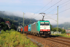 E 186 246-5 (Piotr Kozlowski) Tags: e186 186245 knigstein elbtalbahn elbe itl kbs241 intermodal fog traxxf140ms traxx