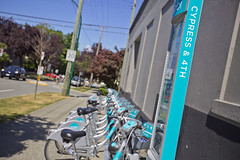 Mobi Bike Sharing Station (GoToVan) Tags: mobi bike share sharing rental bicycle transportation seawall station dock cypress 4th