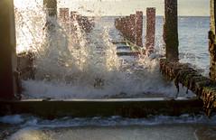 Great Yarmouth Groyne (John__Hull) Tags: great yarmouth hopton on sea groyne waves splash wood structure wooden east coast norfolk england uk nikon d3200