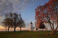 Concord Point Lighthouse, Maryland (jkrieger84) Tags: landscape nature tree lighthouse nikon d600 clouds sunrise concordpointlighthouse concordpoint concord