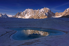 Biafo Glacier: Pamshe Peak reflection (Shahid Durrani) Tags: biafo glacier karakorams gilgit baltistan pakistan