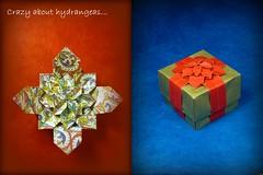 Hydrangeas... (Thomas Krapf Origami) Tags: paper origami box ribbon hydrangea papier paperfolding dasa schachtel fujimoto shuzo papierfalten hotensie severova