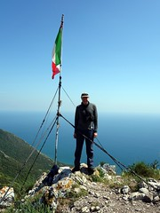 """Me on the summit of Monte Circeo with the Mediterranean Sea behind • <a style=""""font-size:0.8em;"""" href=""""http://www.flickr.com/photos/41849531@N04/17521357716/"""" target=""""_blank"""">View on Flickr</a>"""