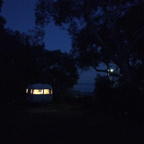Caravan at night. Pt Leo