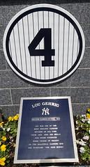 Lou Gehrig's retired number in Monument Park: 5/24/2015 (apardavila) Tags: sports baseball yankeestadium newyorkyankees mlb monumentpark lougehrig majorleaguebasbeball