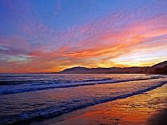 Reflejos del atardecer (Explore 21/05/2015) (Antonio Chac) Tags: sunset espaa atardecer mar spain andalucia costadelsol mediterrneo mlaga marbella