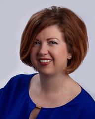 Corporate Headshot (J McCallister) Tags: blue red hair corporate stacey shot head headshot blouse myers slickrflickrportraits