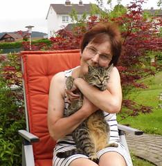 Jonas und ich (ute_hartmann) Tags: ute katze jonas garten kater selbstauslser drausen