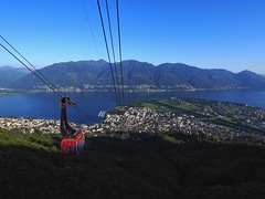 Down from Cardada (die sternenbeleuchtung) Tags: see wasser stadt locarno lagomaggiore lakemaggiore cardada gondelbahn
