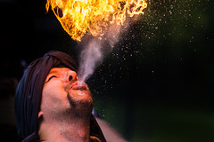 Djinn (I.Dostál) Tags: djinn fire blow man face portrait show performance explore